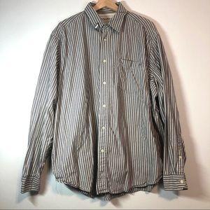 WRANGLER Striped Button Up Dress Shirt
